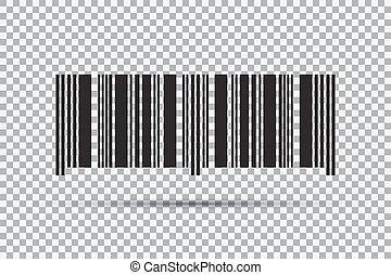 barcode, isolado, ilustração, experiência., vetorial, transparente, ícone