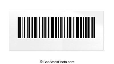 Barcode isolated on white background