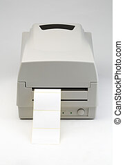 Label printer with blank message ready to insert message of your choice. The image is on a gray background