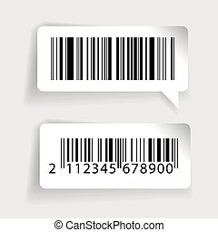 Barcode labels vector set
