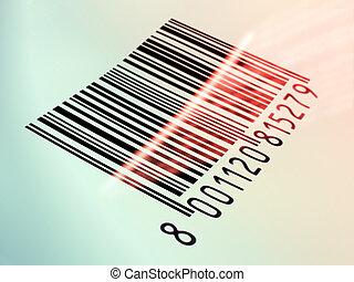 barcode, lesende