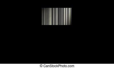 barcode like a window and passing light, 3d animation