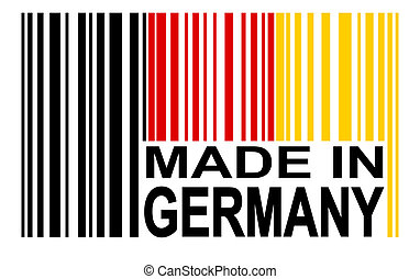 barcode - MADE IN GERMANY