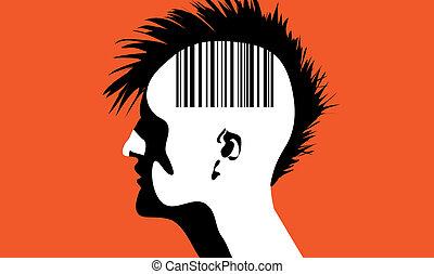 barcode, mann