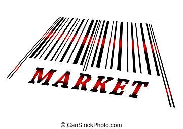 barcode, markt