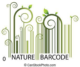 barcode, natur
