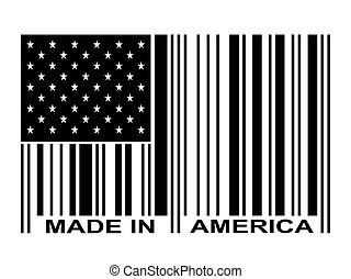 barcode, noir, amérique, fait
