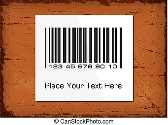 Barcode on a rustic grunge background.