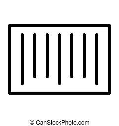 Barcode Pixel Perfect Vector Thin Line Icon 48x48. Simple Minimal Pictogram