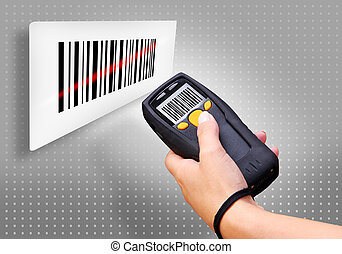 Barcode Scanner - Handheld Computer for wireless barcode...