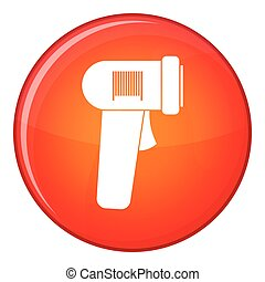 Barcode scanner icon, flat style