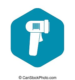 Barcode scanner icon, simple style