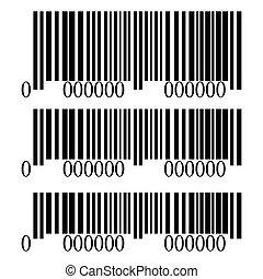 Barcode set isolated on white background, vector illustration
