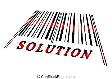 barcode, solución