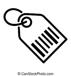 Barcode tag icon, outline style