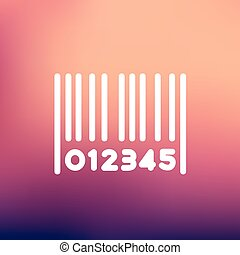 Barcode thin line icon - Barcode icon thin line for web and ...