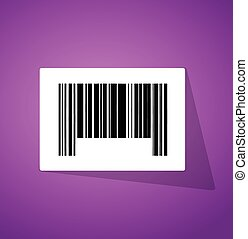 barcode ups code illustration design over a purple ...