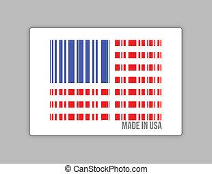 Barcode USA. Made in usa illustration
