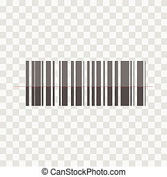 Barcode vector icon on a transparent background.