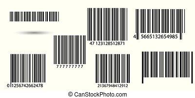 barcodes., 集合
