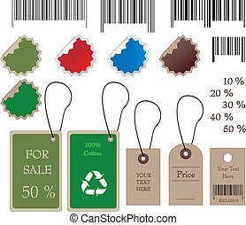 Barcodes, stickers, tally and labels