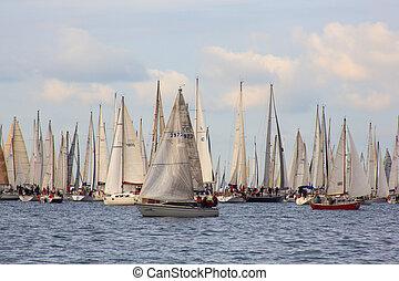 Barcolana regatta, Trieste - TRIESTE, ITALY - 14 OCTOBER ...