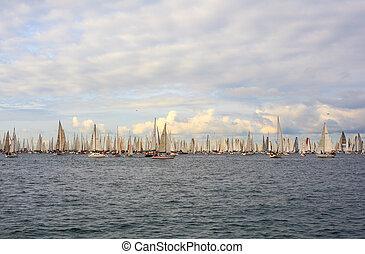 Barcolana regatta, Trieste - TRIESTE, ITALY - 14 OCTOBER...