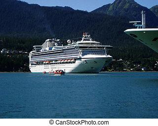barcos, alaska, crucero