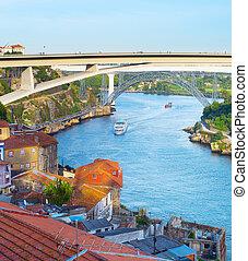 barcos, barcos, douro, río, porto
