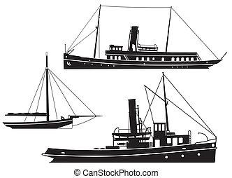 barcos, barcos, vapor