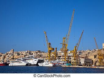 barcos, en, drydock
