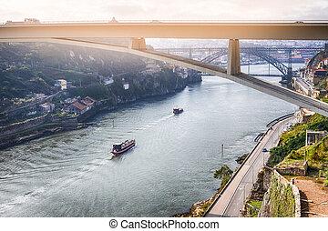 barcos, henrique, cityscape, líneas, d, infante, lugares, ...