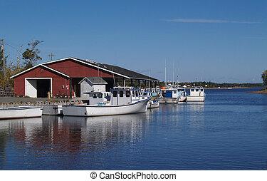 barcos, isla, edward, pesca, príncipe