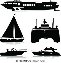 barcos, mezcla