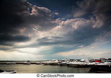 barcos, porto