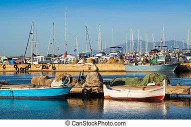 barcos, puerto, l'ampolla