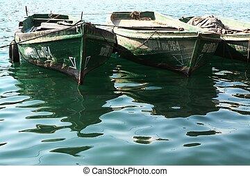 barcos, verde