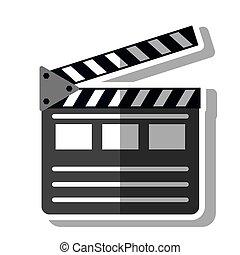 bardeau, conception, isolé, cinéma