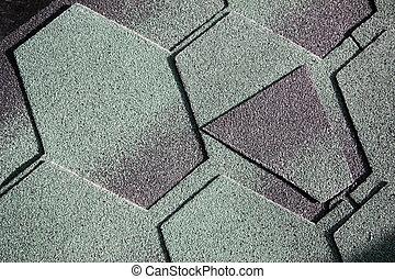 Bardeau, goudron. Roofing:, demande, shingles., goudron, sous.