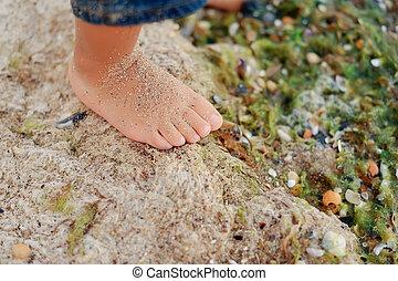 bare children's foot
