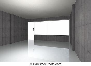 Bare concrete room