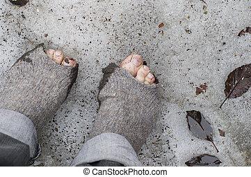 Bare Feet On The Snow