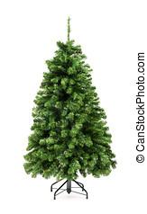 Bare green Christmas tree