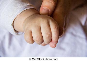 bare hand of baby-3