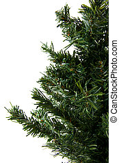Bare plastic christmas tree