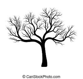 bare tree silhouette vector symbol icon design. Beautiful...