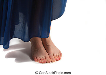 barefoot - woman's bare feet