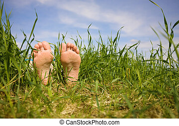 Barefooted a foot