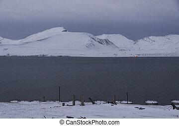 Barentsburg - Russian village on Spitsbergen, Norway.