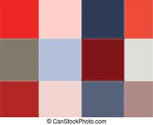 barevný, čtverhran